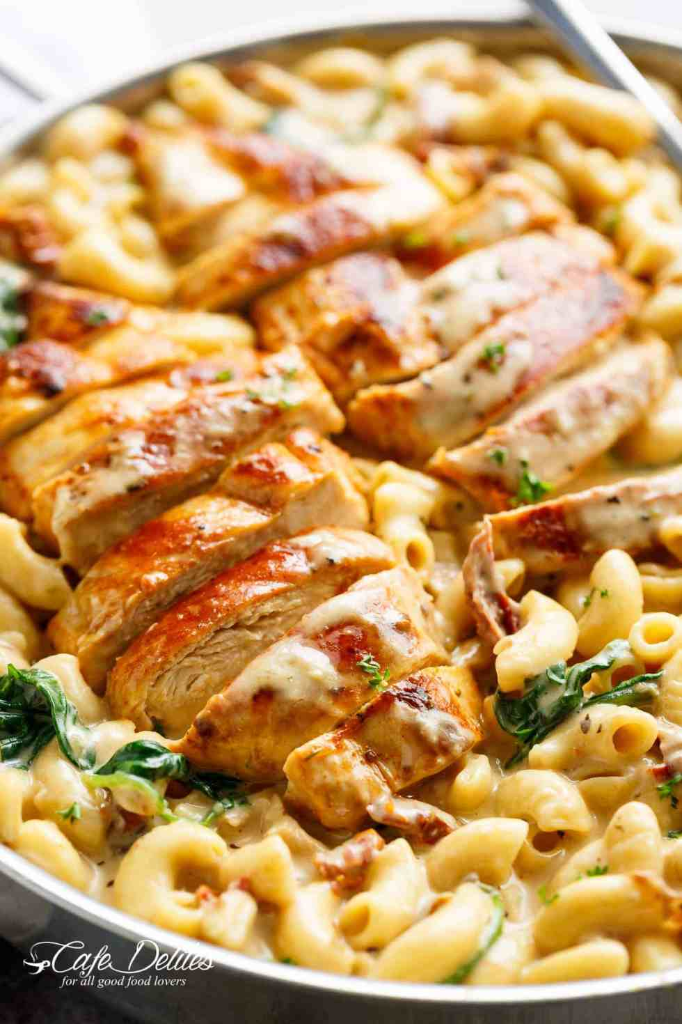 Tuscan Chicken Mac And Cheese One Pot Stove Top Cafe Delites French Fries 2000 150 Gr How To Make