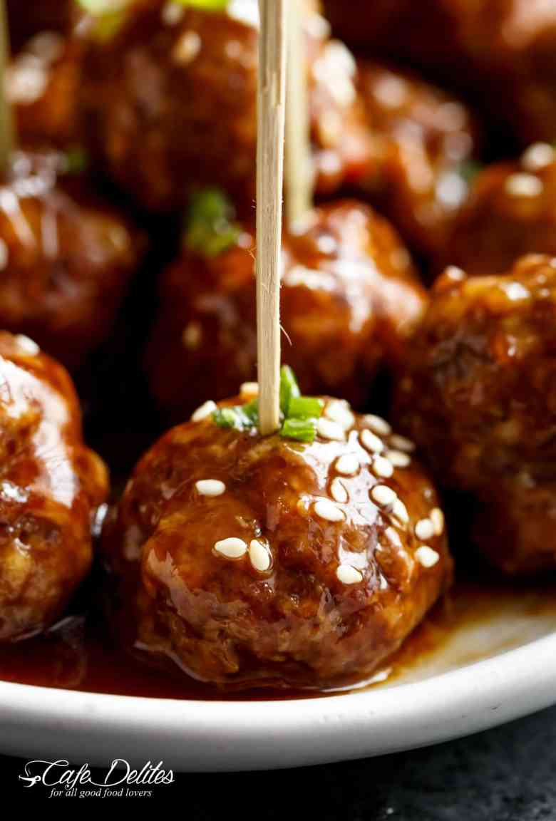 The Best Teriyaki Beef Meatballs Recipe