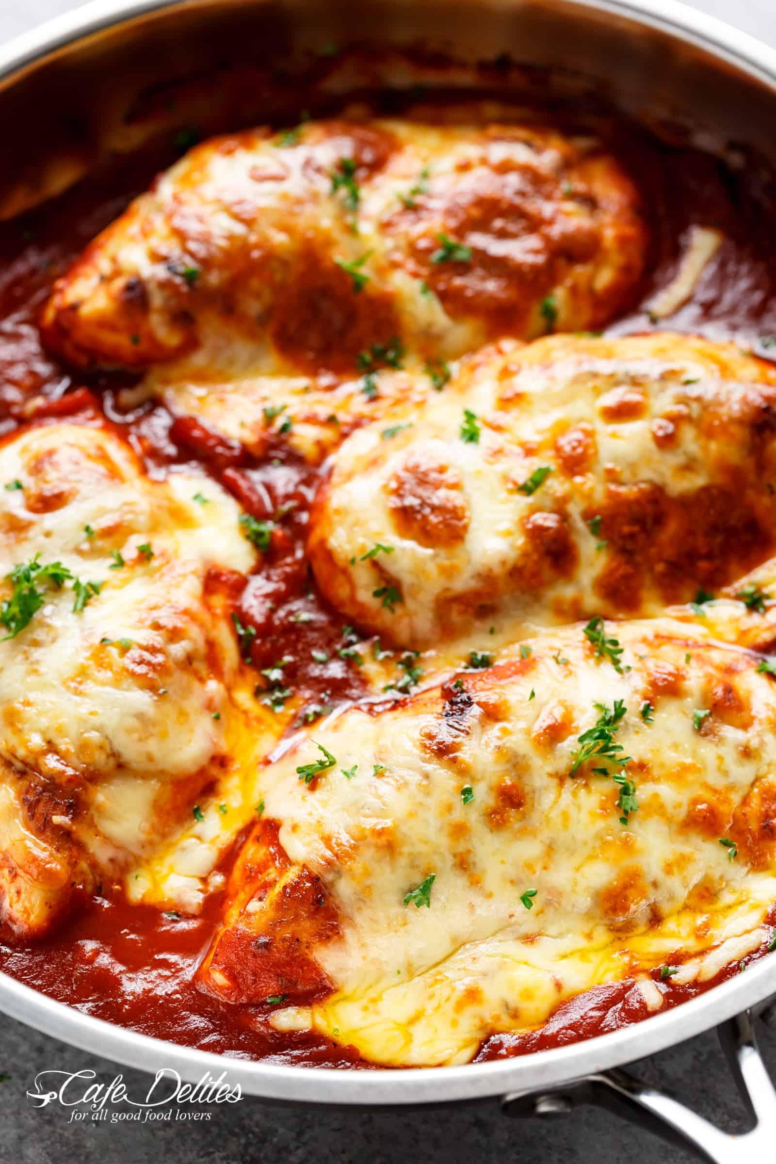 Easy Mozzarella Chicken Recipe Low Carb Chicken Parm