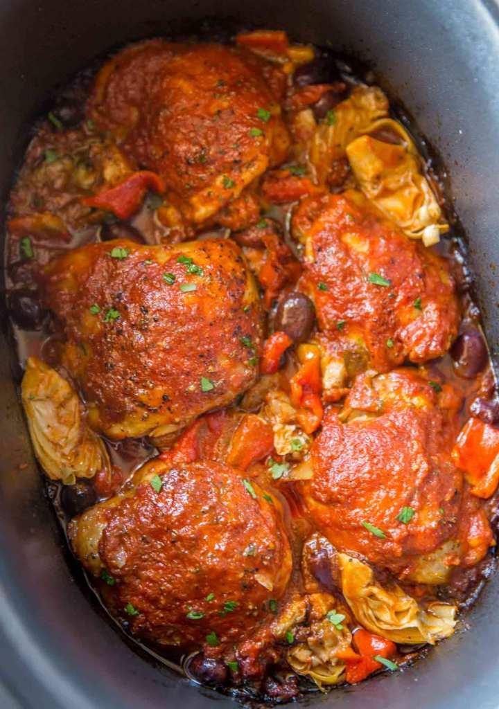 Slow Cooker Mediterranean Chicken Cafe Delites