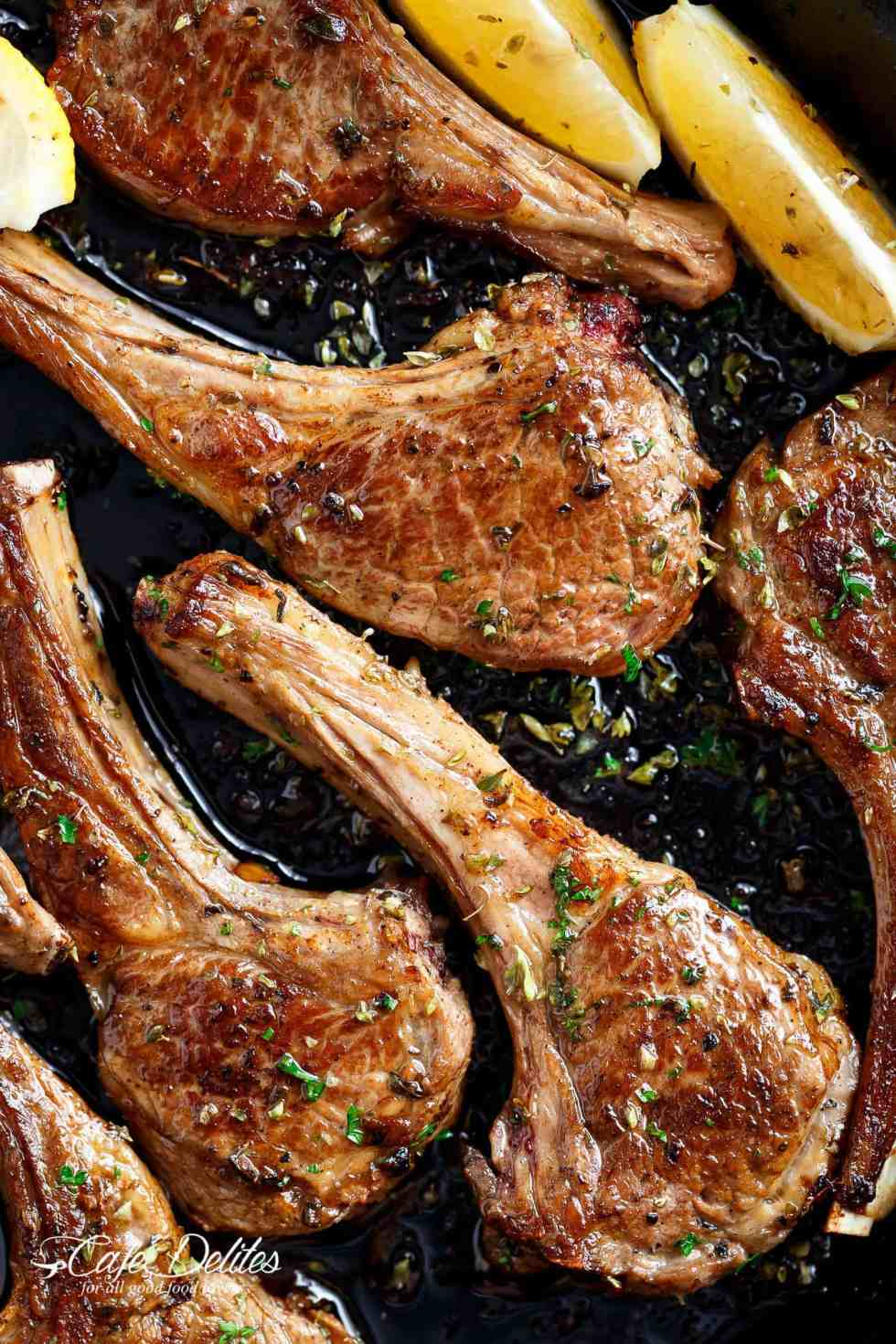 Lamb Chops just like a Greek restaurant or even better! | cafedelites.com