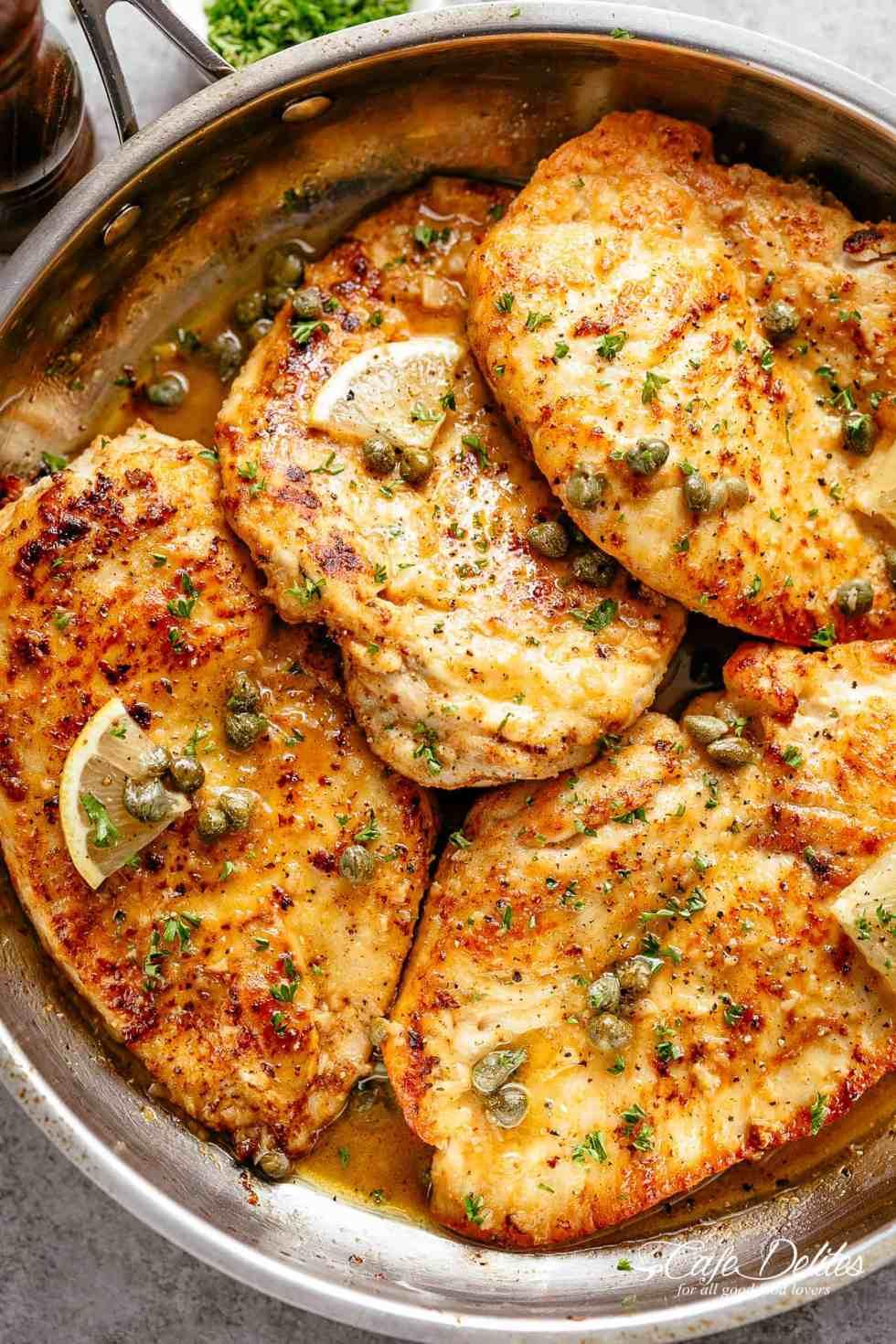 Chicken Piccata: Easy Dinner Recipe | My Baking Addiction  |Chicken Piccata