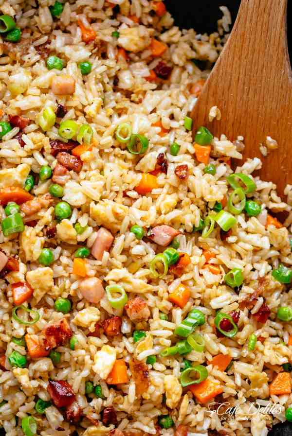 Fried Rice just like Chinese fried rice | cafedelites.com