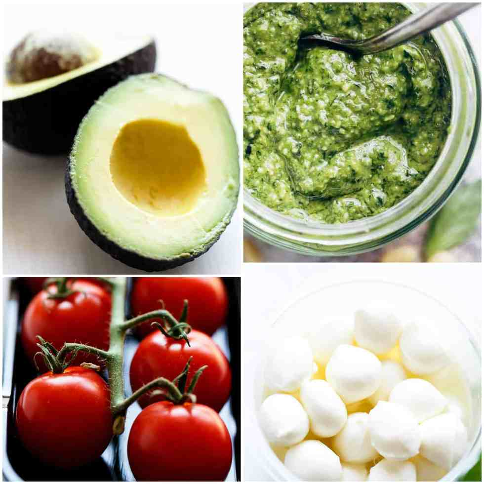 Caprese salad ingredients | cafedelites.com