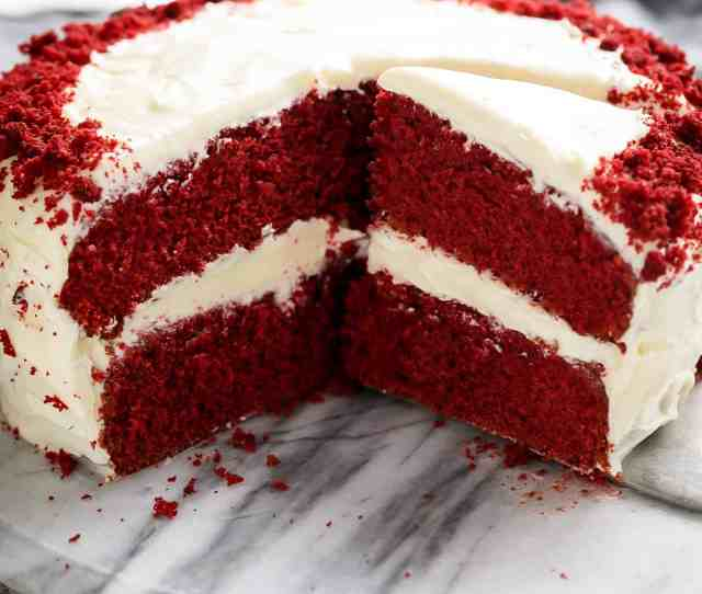 The Most Incredible Red Velvet Cake With Cream Cheese Frosting Is Fluffy Soft Buttery