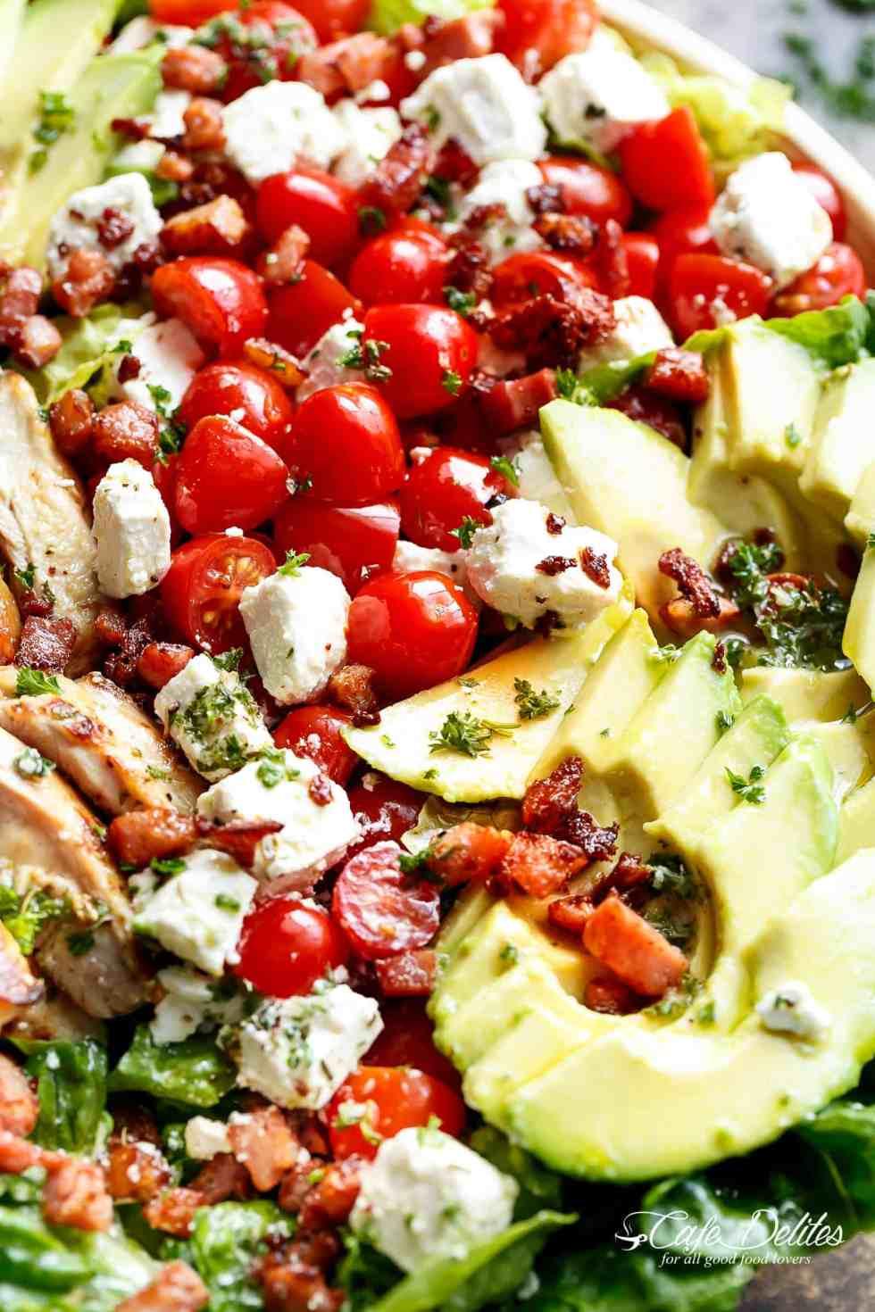 Lemon Herb Avocado Chicken Salad Recipe! | cafedelites.com