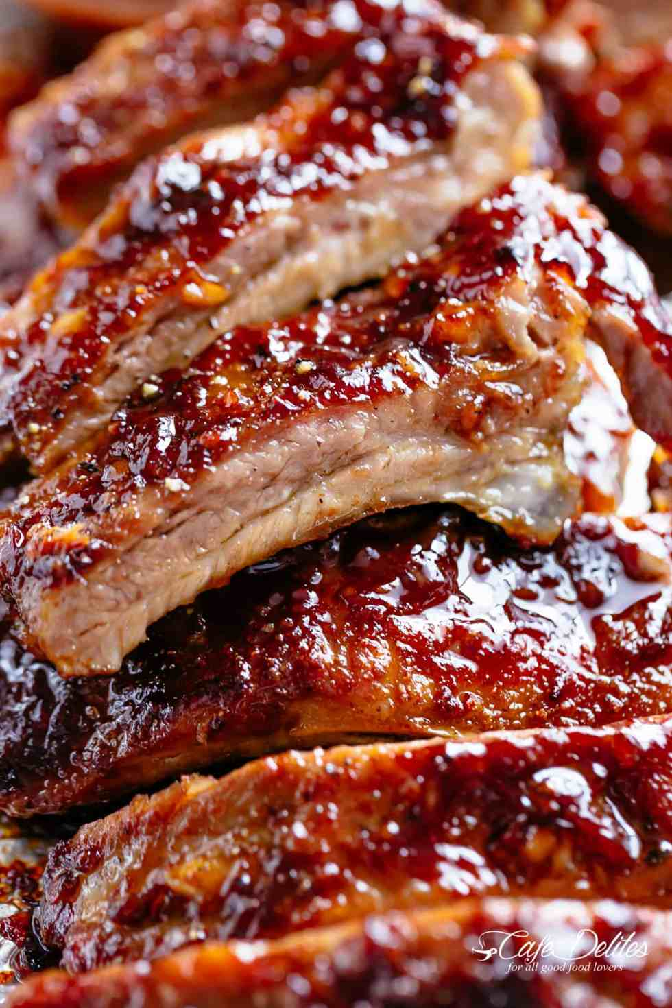 Juicy Barbecue Ribs in the oven | cafedelites.com