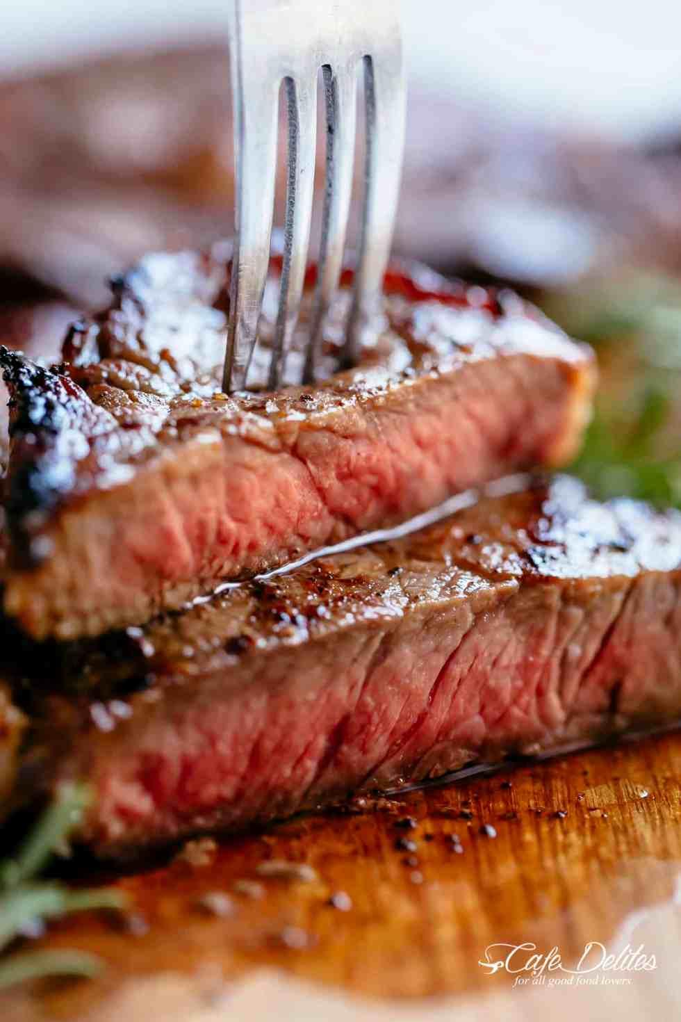 Medium Rare Steak | cafedelites.com