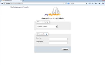Instalar phpmyadmin en windows