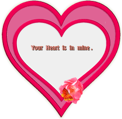 Your heart is in mine