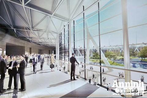 Cùng với khu triển lãm, công trình còn có không gian xanh, mặt nước, công viên và đô thị... tạo thành một quần thể trọn vẹn, tạo nên sức mạnh cộng hưởng, thu hút các hoạt động kết nối, giao lưu..