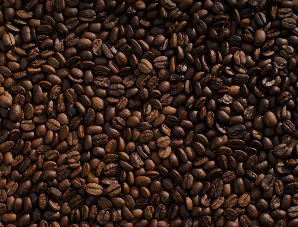 Chocolate coloured coffee beans