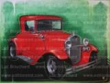 toile-graffiti-art-peintre-hip hop-voitures-ford-streetrod