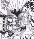 idole futur bande dessinee graffiti