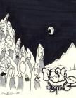 nuit mystere bande dessinee lune graffiti