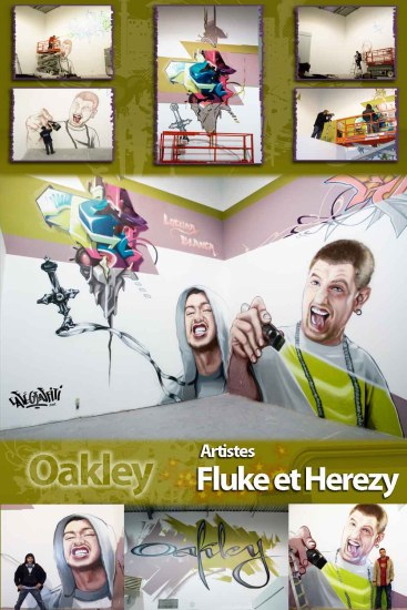 Affiche art mural, magasins Oakley