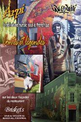 Affiche artistes du Café-Graffiti au restaurant Briskets