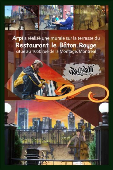 Affiche Fresque murale restaurant Bâton-Rouge