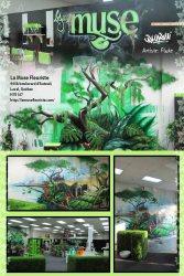 Affiche graffiti fleuriste La Muse