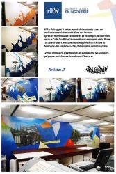 Affiche graffitis firme d'ingénierie BPR