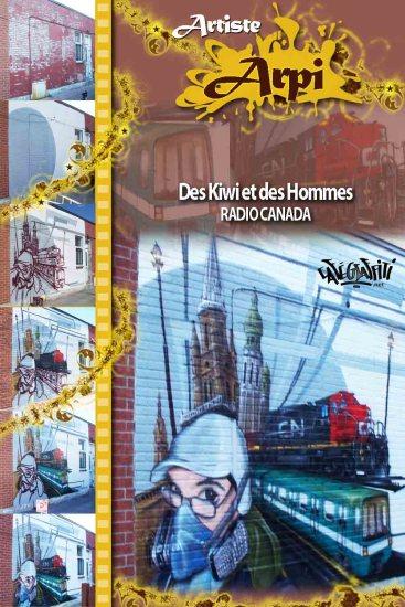 Affiche Murale émission Des kiwis et des hommes, Radio-Canada