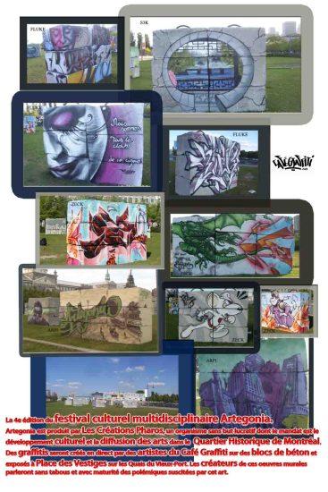 Affiche Murale festival culturel Artegonia