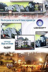 Affiche murale fête de quartier Ubisoft