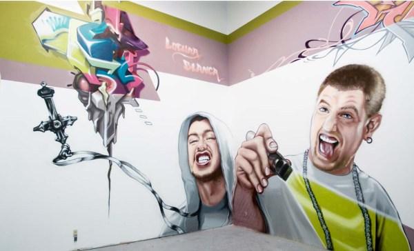 Art mural Magasins Oakley