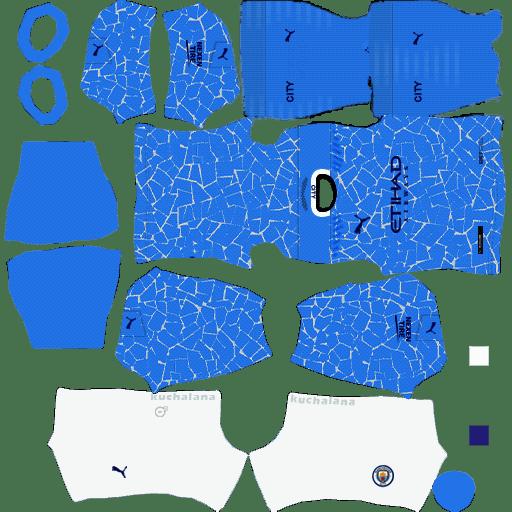 Bộ Kits Manchester City - Dream League Soccer 2021