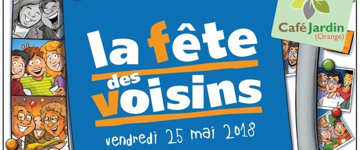 Fête des voisins: RDV au Café Jardin vendredi 25 mai