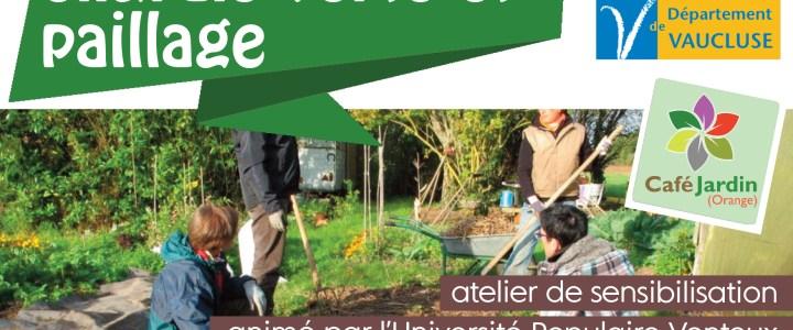 """ATELIER """"Engrais verts et paillage"""" – samedi 19 octobre à 9h30"""