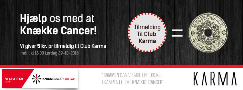 Støt kampen i mod kræft sammen med Karma