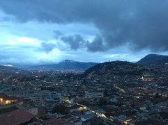 best view of Quito old town - from cafe Mosaico