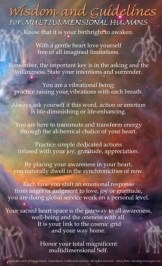 Wisdom and Guidlines for Multidimensional Humans