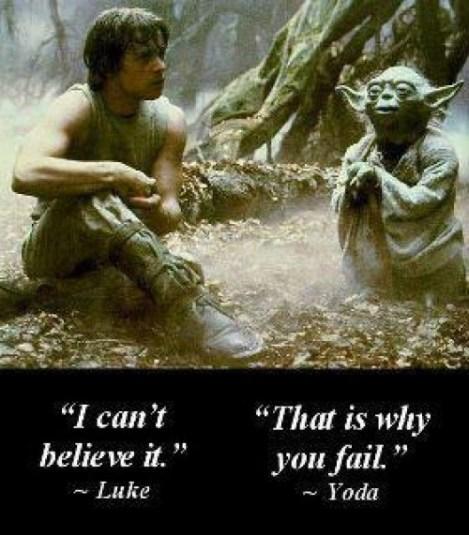 Yoda on belief
