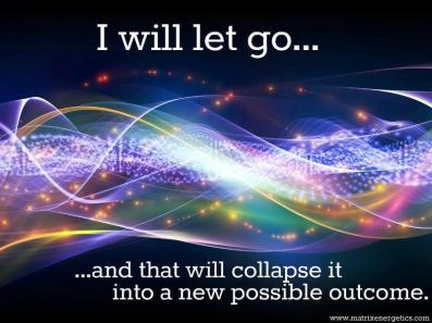 letting go to collapse the wave to something new