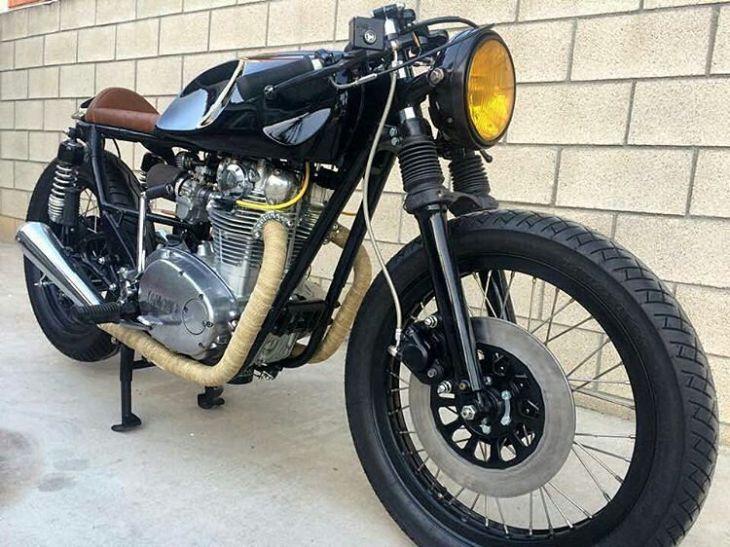 By @nguyenmotorcycles - .  #xs650 #caferacer #caferacers #caferacersofinstagram #caferacersculture #caferacerbuilds #vintage #vintagestyle #vintagefashion #motocycle #moto #motos #motorcycles #oldstyle #oldschool #bratstyle #motorbike #motor #helmet