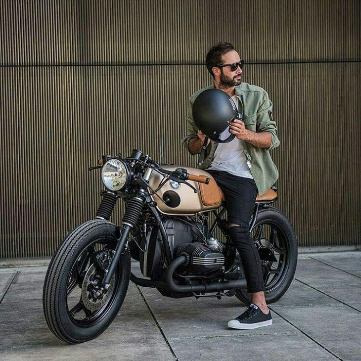 By @banditgarageportugal - #BMW R80 by Bandit Garage. My latest custom bike. In love with this golden beauty! . #caferacer #caferacers #caferacerstyle #caferacersculture #caferacerbuilds #vintage #vintagestyle #vintagefashion #motocycle #moto #motos #motorcycles #oldstyle #oldschool #bratstyle #motorbike #motor #helmet