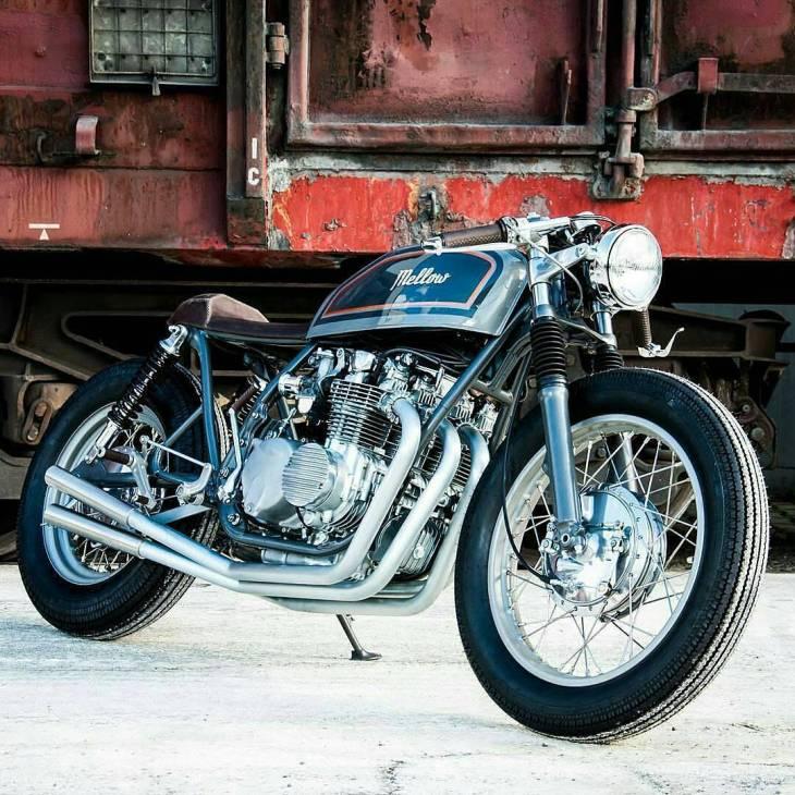 @Regrann from @caferacerandbobbernation - Nasty and Clean Honda CB four 550 1976 by @ironylon ⚡ . #caferacer #caferacers #caferacerstyle #caferacersculture #caferacerbuilds #vintage #vintagestyle #vintagefashion #motocycle #moto #motos #motorcycles #oldstyle #oldschool #bratstyle #motorbike #motor #helmet