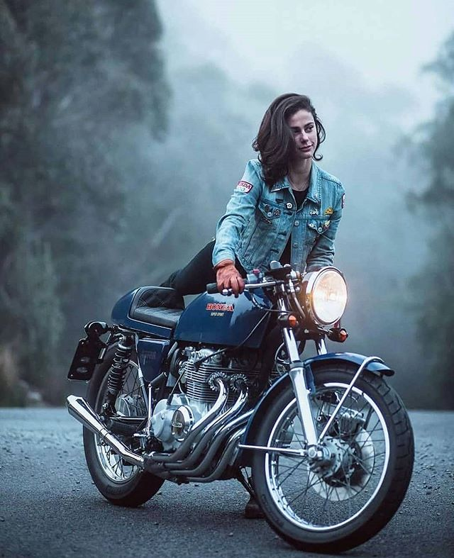 @katieabdilla and her cafe racer Honda CB