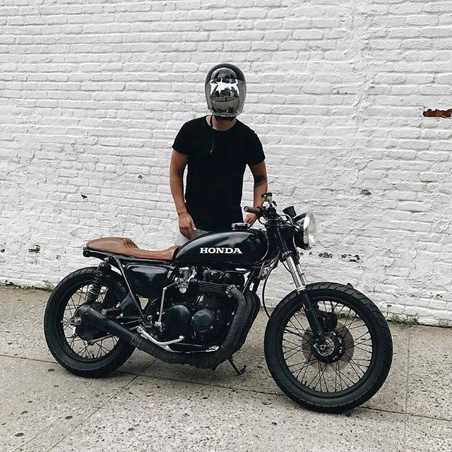 @eastofnormal with a Honda CB 500  by @missgeoburke