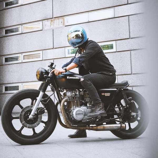 @tomen.s on a Kawasaki Z400