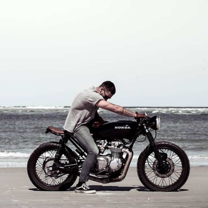 @bjgolnick on his Honda CB 550