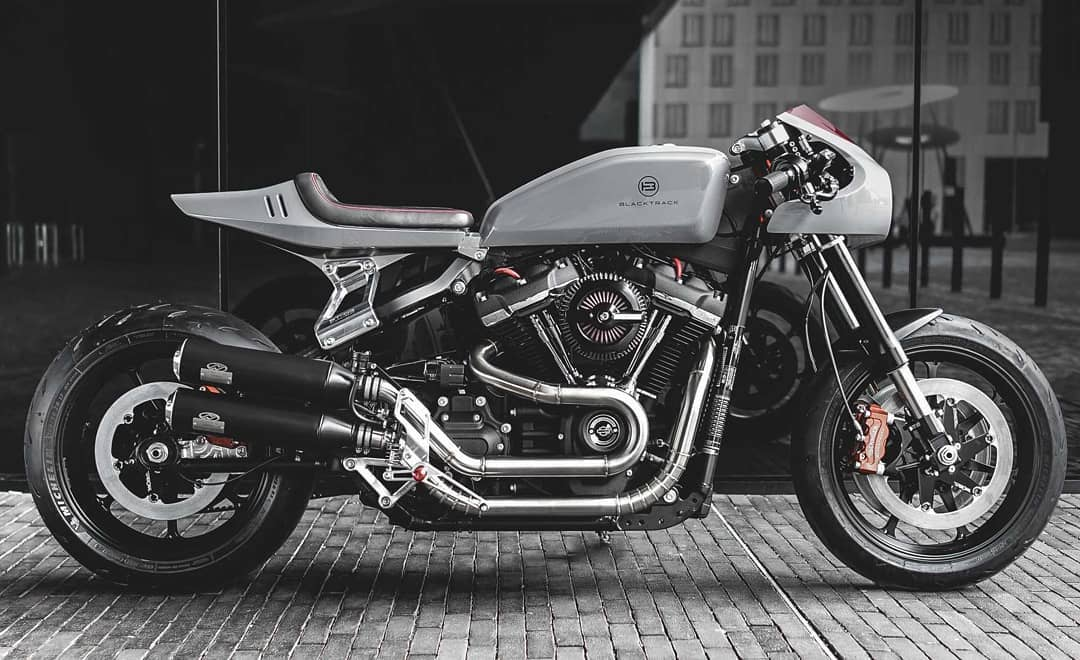 Blacktrack BT-03 Harley Davidson Cafe Racer by @sachalakic / @blacktracklifestyle