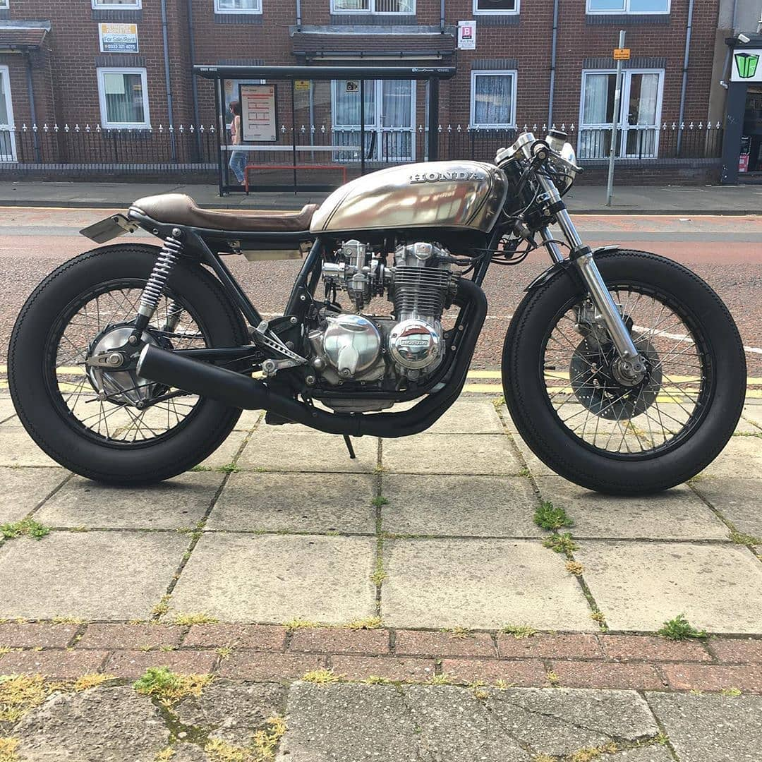 Honda CB550 by @hubstercaferacer