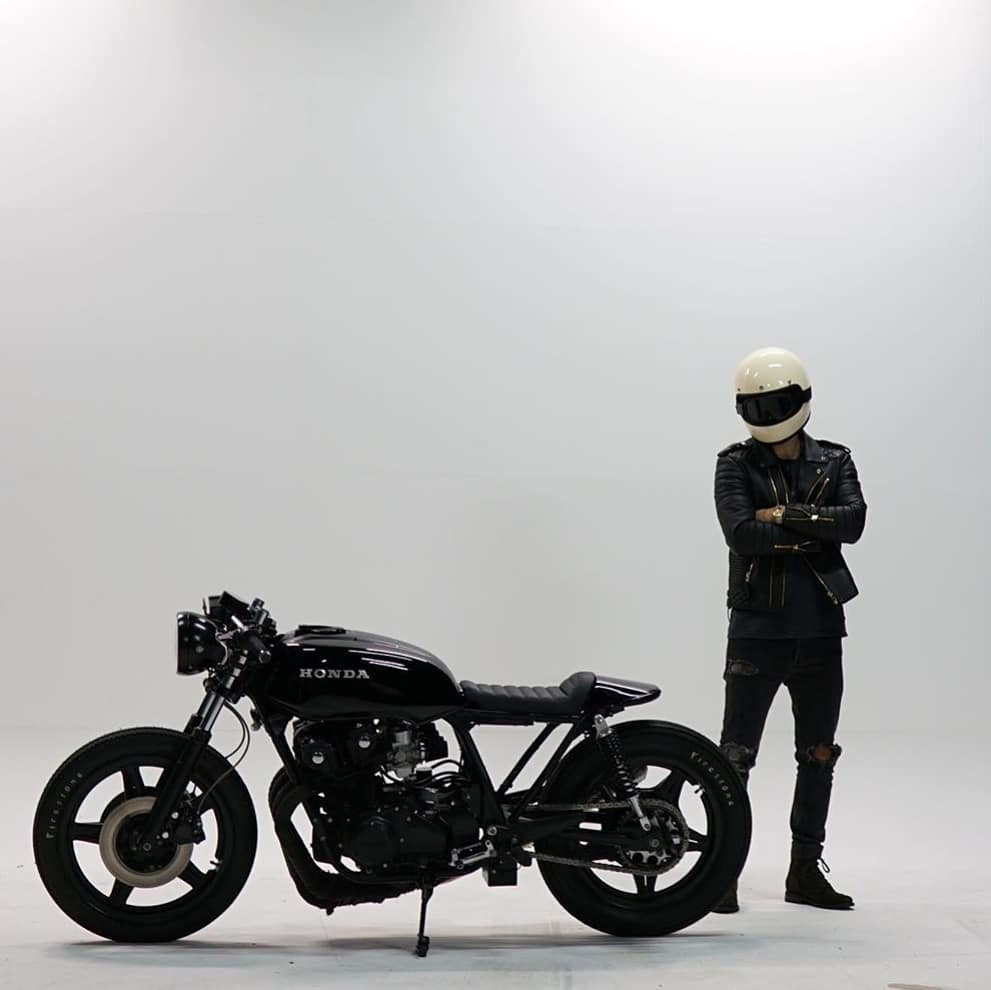 @mrjonesmiller and his Honda CB750 📷 @creativezhone