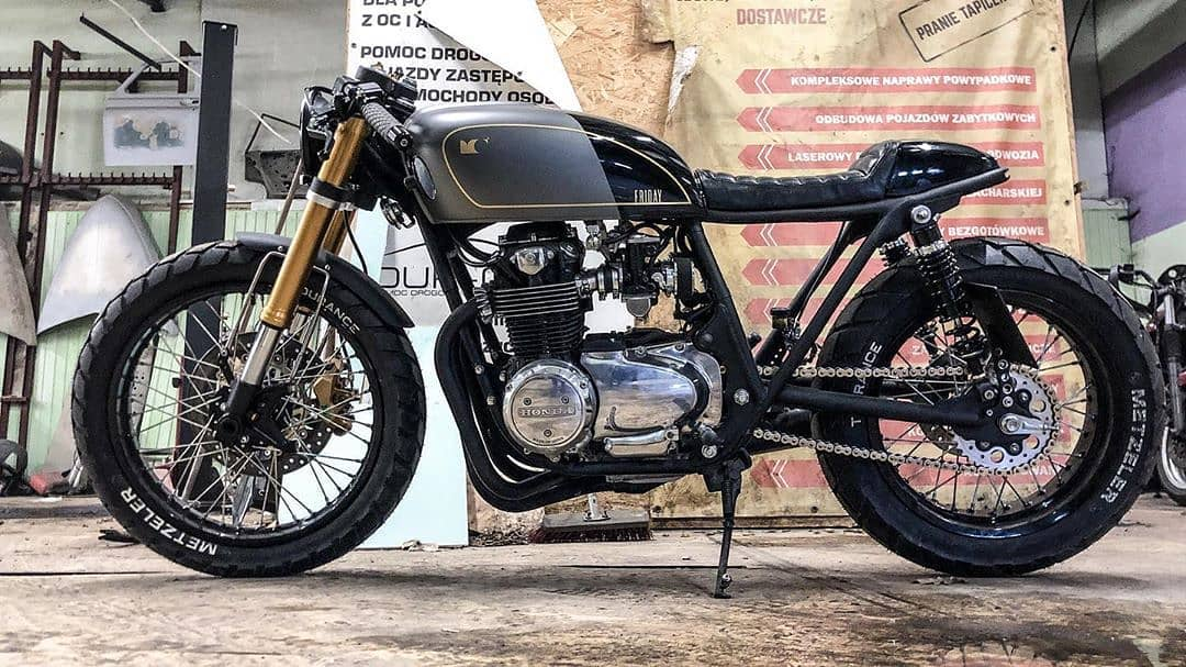 Honda CB550 by @cardsharper_customs