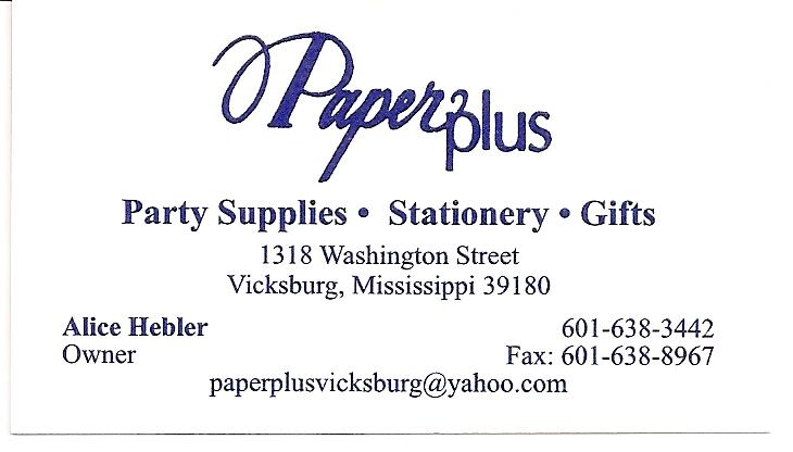 Paper Plus card