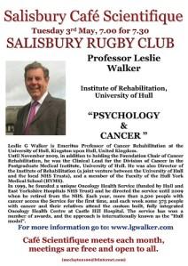 Poster for Prof. Leslie Walker