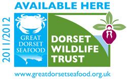 Great Dorset Seafood - shop sticker